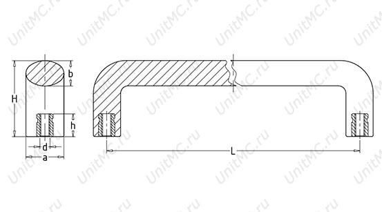 Ручка скоба промышленная чертеж