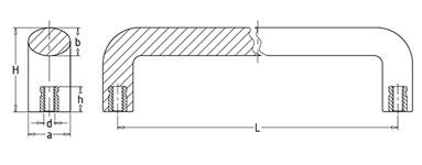 Ручка скоба промышленная