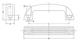 Ручка бугельная промышленная чертеж
