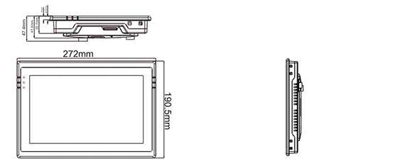 "Панель оператора 10.2"" PI3102N чертеж"