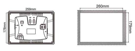 "Панель оператора 10.2"" PI3102N чертеж2"