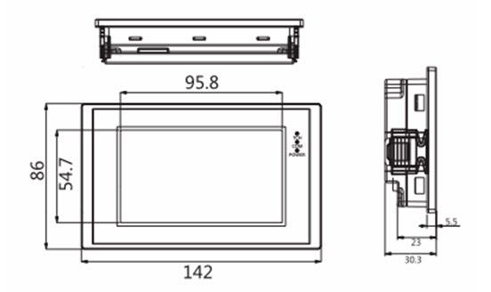 Панель управления оператора LEVI2043E габариты