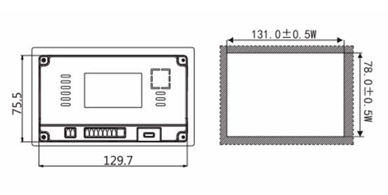 Панель управления оператора LEVI2043E монтажные размеры