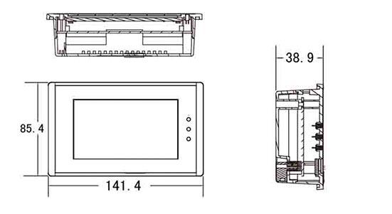 панель оператора с usb LEVI2043T габариты
