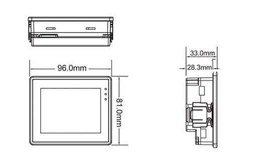 Панель для оператора LEVI350T габариты