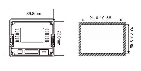 Панель для оператора LEVI350T место монтажа