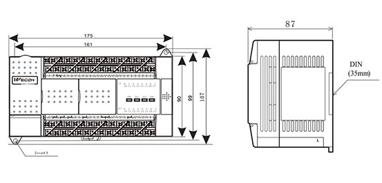 Контроллер логический Wecon LX3V-2416MT4H размеры