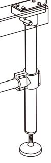 Регулируемые винтовые опоры для оборудования. Эскиз