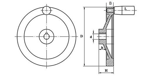Маховик для оборудования TF04004 Чертеж