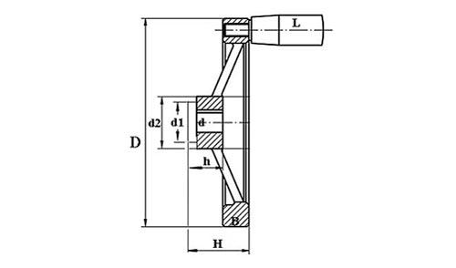 Маховик для станка TF04005 Чертеж