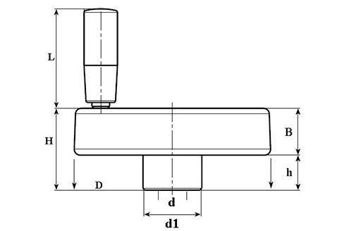 Рукоятка маховик TF04003 Чертеж