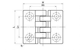 Накладные петли металлические TF06005 чертеж