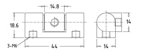 Шарнирные угловые петли HL.41209 Чертеж