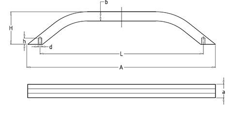 Чертеж. Ручка техническая бугельная HL14240