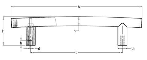 Чертеж. Ручка техническая нержавеющая HL14180