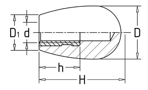 Чертеж. Каплевидная ручка для станка HL11221