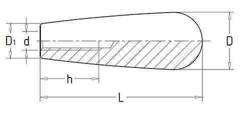 Чертеж. Ручка каплевидная для станка HL11230