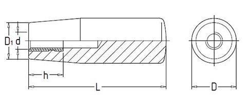 Чертеж. Ручка конической формы HL11271