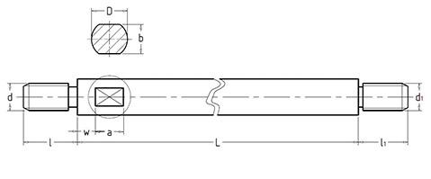 Чертеж. Стержень для рукоятки HL11280