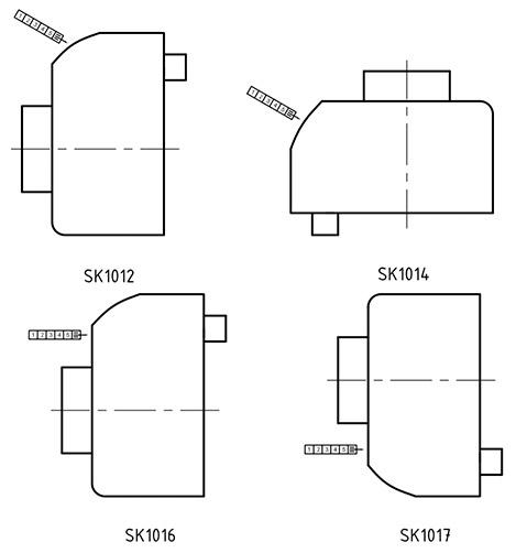 HL2110 варианты положения счетчика