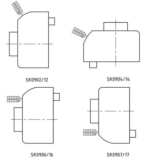 HL2109 варианты расположения счетчика
