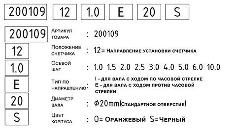 Счетчик оборотов механический HL2109 формула
