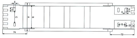 Чертеж.Износостойкий гибкий кабелеукладчик TLC45(энергоцепь)