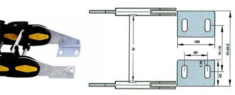 Чертеж. Кабельный трак удлиненный TLZ150. (Кабельный трак)