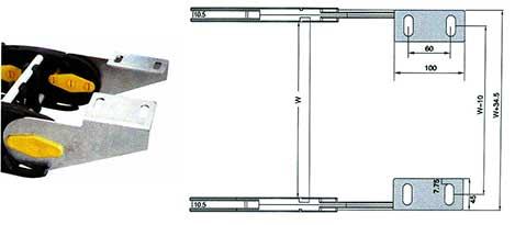 Чертеж. Кабельный трак удлиненный TLZ150. (Подвижный кабель канал)