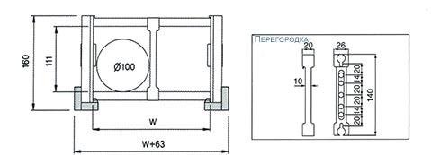 Чертеж. Кабельный трак удлиненный TLZ150