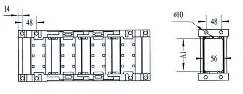 Чертеж.Подвижный усиленный кабель канал TZ56(энергогусеница)
