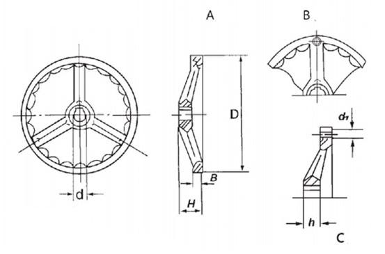 Чугунный маховик QS0804.5 Размеры