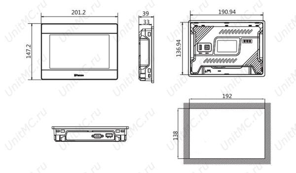 PI3070i-Wecon-HMI-size