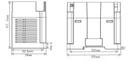 Размеры LCM-16EX Wecon 90х58х87.5