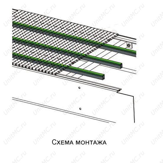 Схема.Направляющая ленты YY-15